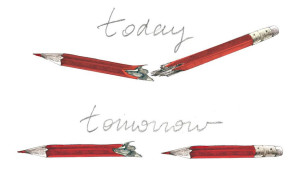 Go here to get the story of the artists behind the now iconic pencil tribute.